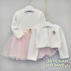 Платье с болеро (фактурная ткань)