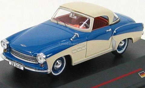 model cars wartburg 313 sport blue cream 1957 ist023 ist. Black Bedroom Furniture Sets. Home Design Ideas