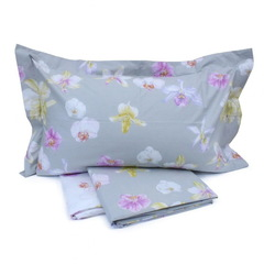 Постельное белье 2 спальное евро Mirabello Fiori di Orchidea голубое