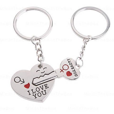 Брелок парный key from heart