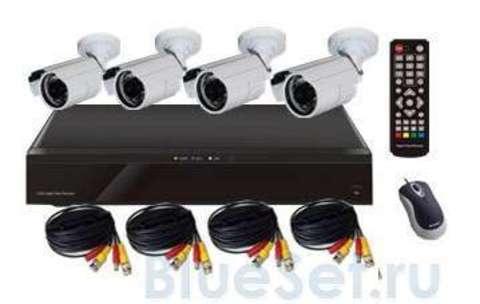 Mobidick Комплект для видеонаблюдения: DVR и 4 уличные камеры SWDVR4B