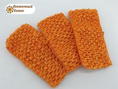 Повязки ажурные оранжевые ширина 7 см