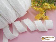 Эластичная резинка с люрексом белая 16 мм