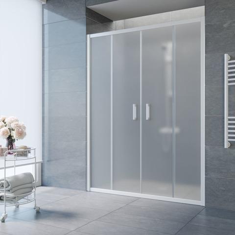 Душевая дверь в нишу Vegas Glass Z2P профиль белый, стекло сатин
