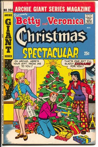 Archie Giant Series #204 (1973) Betty and Veronica Christmas