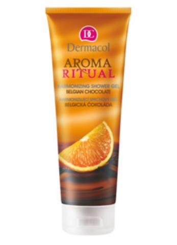 Dermacol Aroma Ritual Shower Gel - Belgian Chocolate Гармонизирующий гель для душа с ароматом бельгийского шоколада и апельсина, 250мл