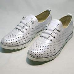 Белые летние туфли на белой подошве Mi Lord 2007 White-Pearl.