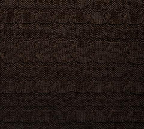 Вязаный плед шоколад 140x180