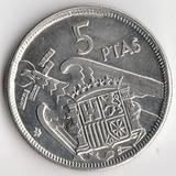 K6109, 1957, Испания, 5 песет UNC