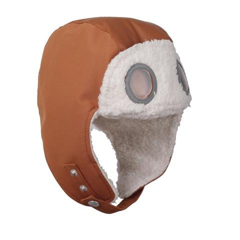 шапка Didriksons Finn Leather brown (охра)
