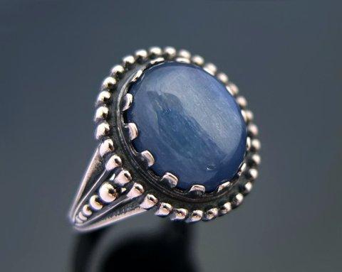 кольцо с кианитом кс-7150