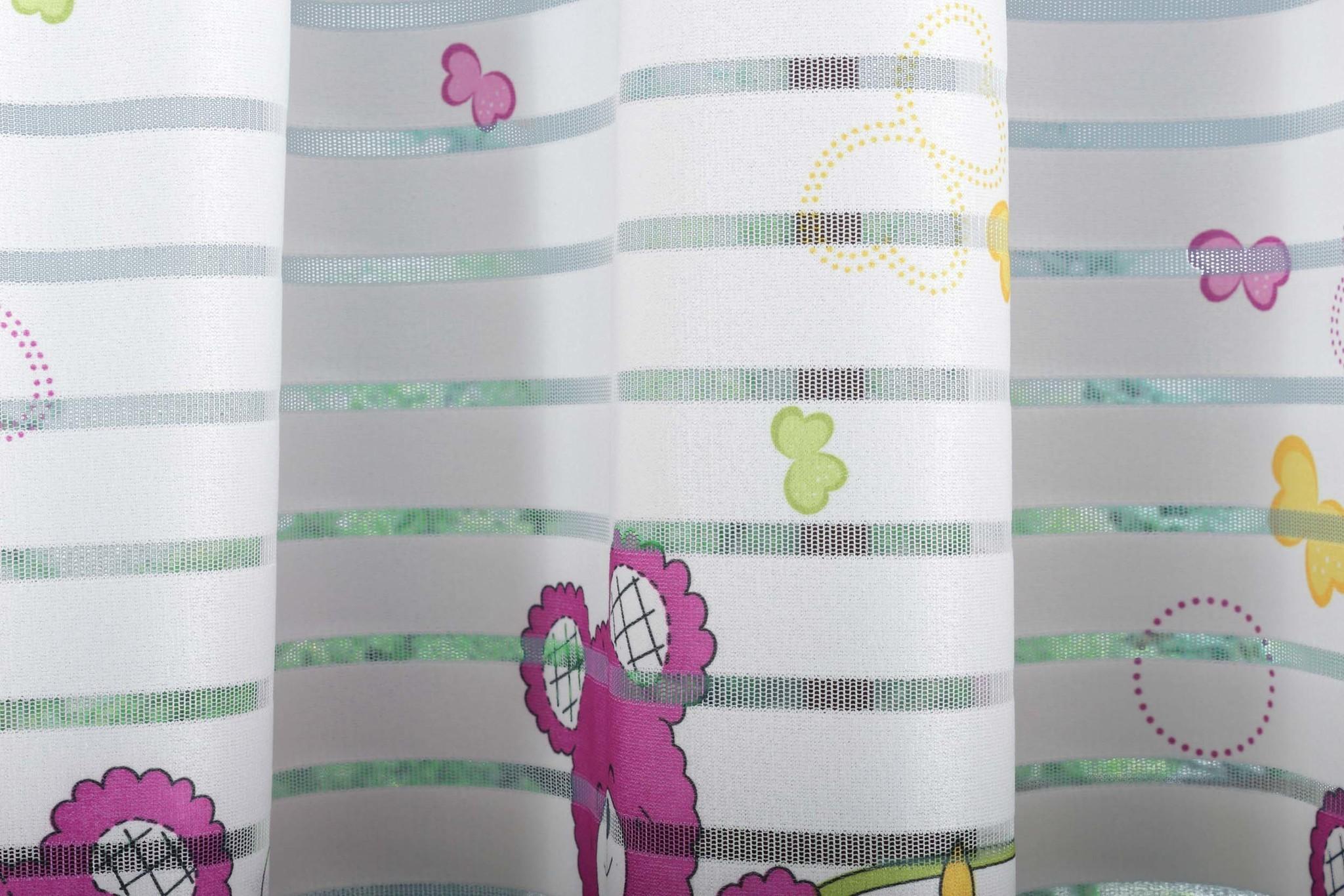 Готовая штора Веселый Мишка-2 (розовый)