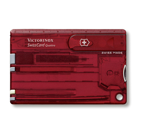 Швейцарская карточка Victorinox SwissCard Quattro, красная