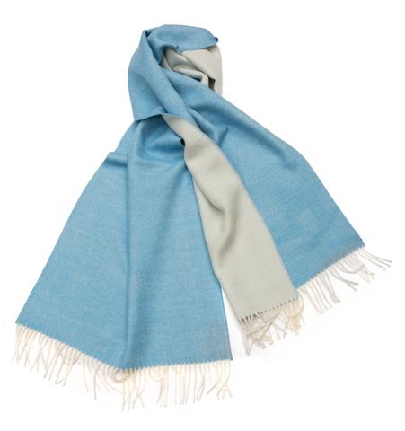 Плед-шарф шерстяной AM Paris Alpaka голубой