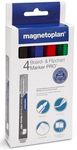 Набор из 4-х разноцветных маркеров Magnetoplan для досок и бумаги (Board / Flipchart Marker) (12281)