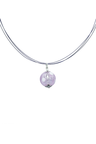 Подвеска Perla Grazia cветло-фиолетовая pois (Violet Pois)