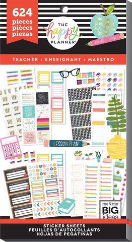 Блокнот со стикерами -Value Pack Stickers - BIG - Teacher Functional- 624 шт