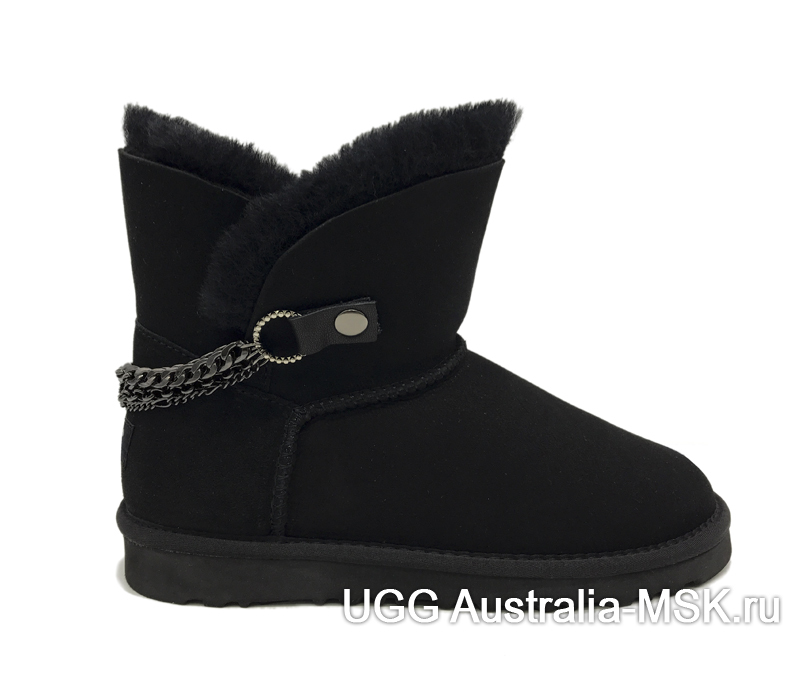 UGG  Chain Mini Metallic Black