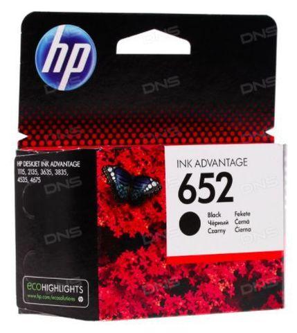 Картридж черный HP 652 для Deskjet Ink Advantage 1115/2135/3635/4535/3835/4675. Ресурс 360 стр (F6V25AE)