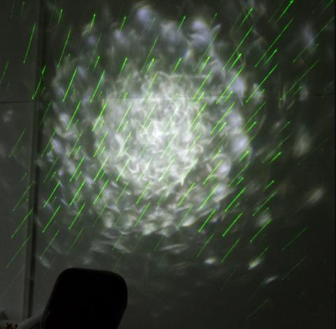 Лазерный новогодний проектор - Лазерный Дождь и Волны с пультом