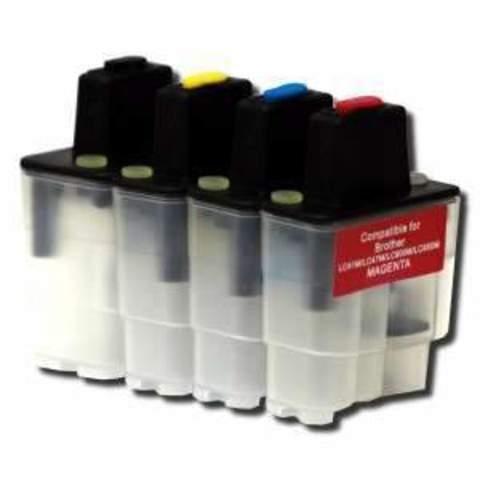 Заправляемые картриджи Brother LC900, LC950. Комплект 4 штуки.