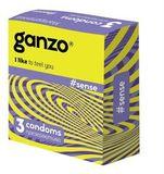 Презервативы GANZO  SENSE, No3 (Тонкие, 3шт. в упак.)