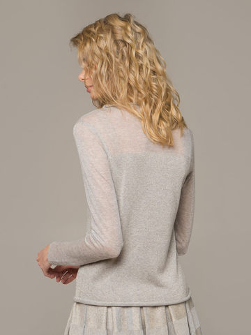 Женский джемпер цвета серый меланж - фото 3