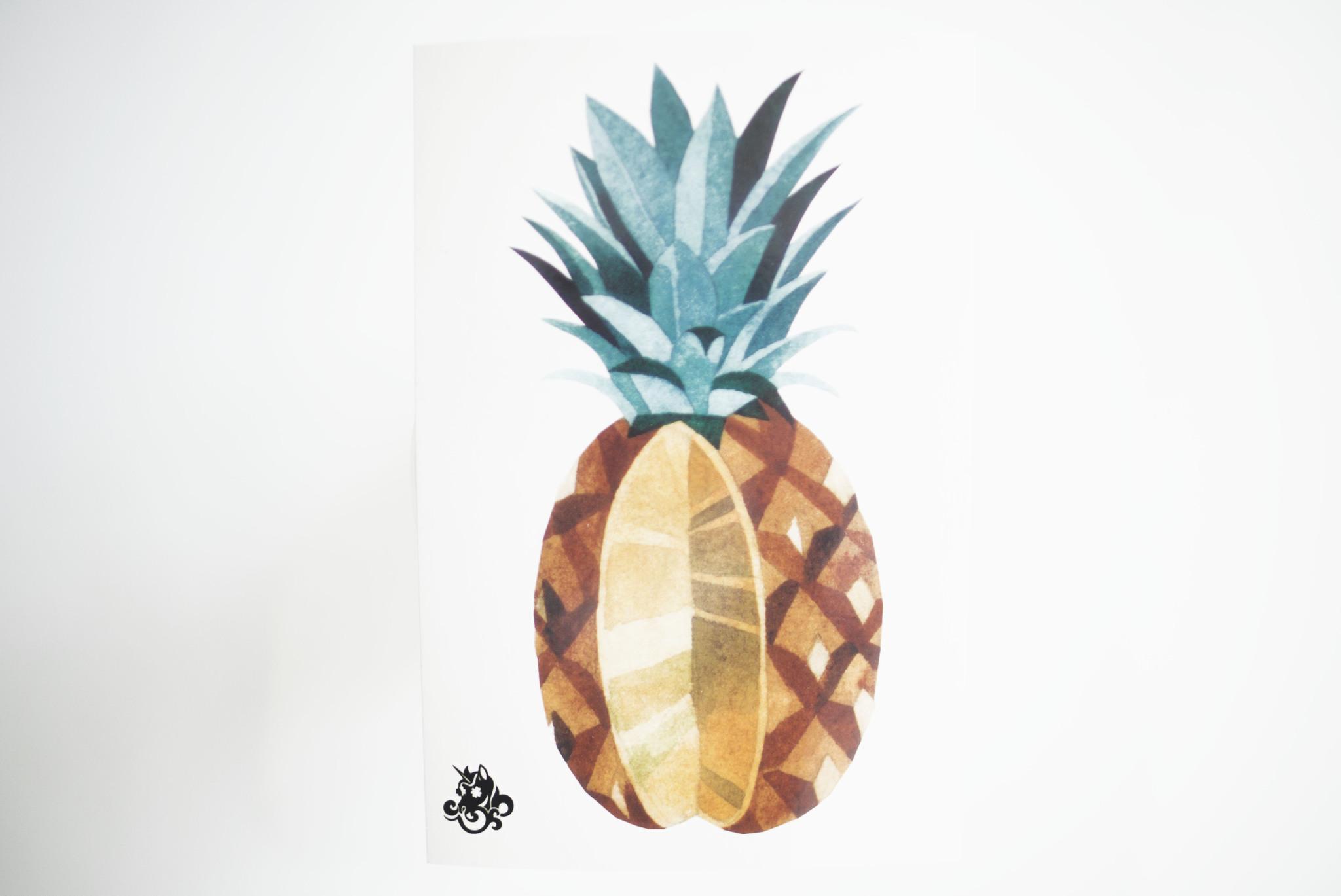 Переводная татуировка Pineapple