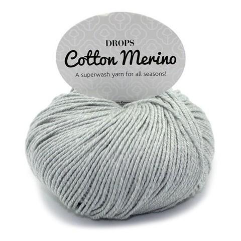 Пряжа Drops Cotton Merino  20 светло-серый