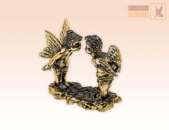 Ангелочки - Валентинки на постаменте из бронзы