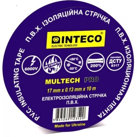 Изоляционная лента синяя INTECO Multech Pro 10м.