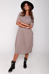 """Это платье - самый простой способ изменить свои образ и настроение! Платье отрезное по талии и юбкой """"баллон"""" с карманами. По спинке замок. (Длина: 44-106см; 46-107см; 48-108см; 50-109 см)"""