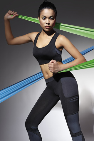 Фитнес топ-майка короткая черная