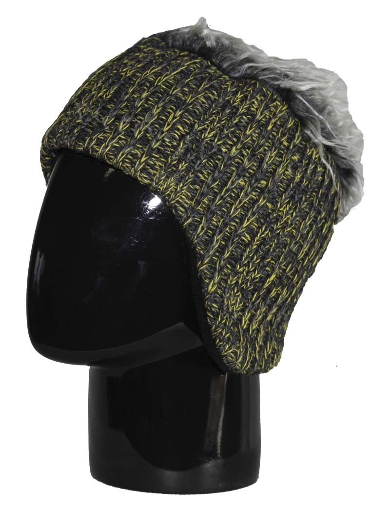 Шапка вязаная с волосами Eisbar Gisbert 051