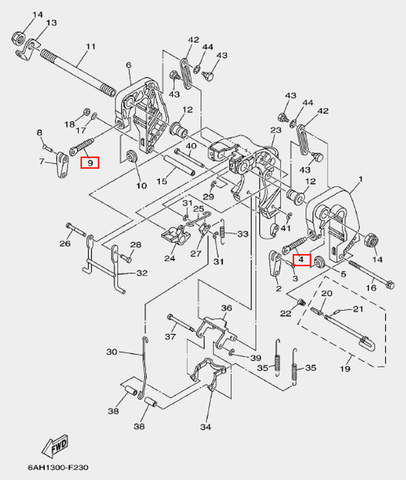 Винт зажима транца для лодочного мотора F20 Sea-PRO (19-4-9)