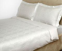Постельное белье семейное Roberto Cavalli Logo белое