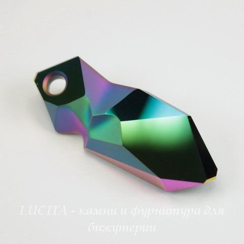 6913 Подвеска Сваровски Kaputt Crystal Scarabaeus Green (40 мм)