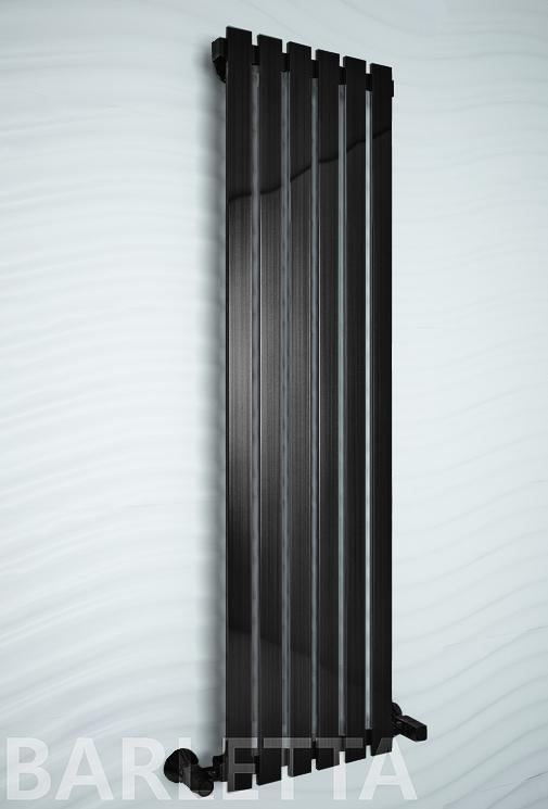 Barletta - водяной дизайн полотенцесушитель черного цвета.