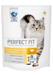 PERFECT FIT полноценный корм для кошек с чувствительной пищеварительной системой с индейкой