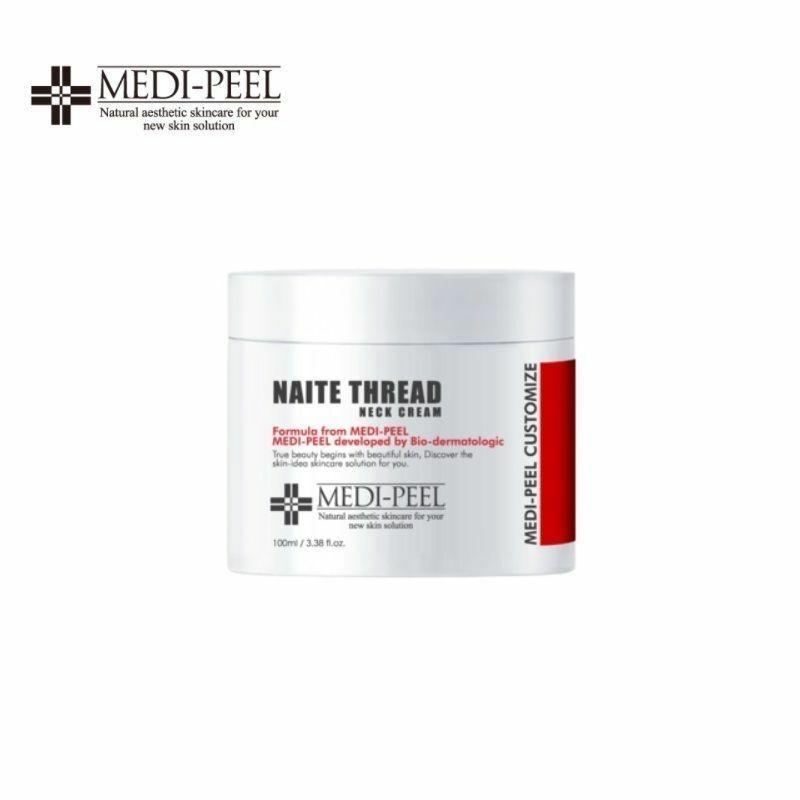 Подтягивающий крем для шеи с пептидным комплексом MEDI-PEEL Naite Thread Neck Cream 100 гр