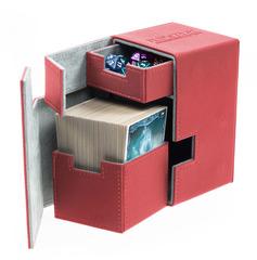 Ultimate Guard - Кожаная красная коробочка с отделением для кубиков на 100+ карт