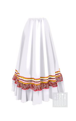 Фото Казачья барыня юбка женская рисунок Выбирайте лучший казачий костюм в Мастерской Ангел. Мы специализируемся на народной, в том числе, казачьей одежде!