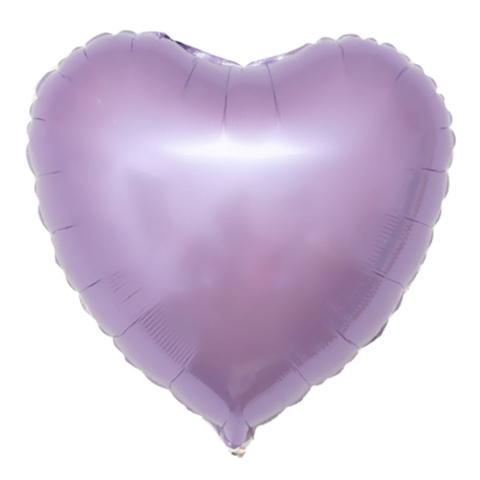 Шар-сердце сиреневый, 45 см