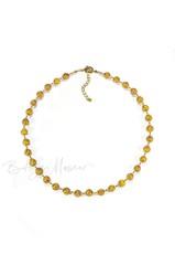 Желтое классическое ожерелье из муранского стекла с небольшими бусинами недорогое