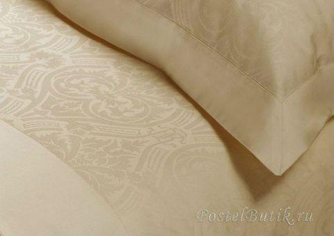 Постельное белье 2 спальное евро Roberto Cavalli Damasco бежевое