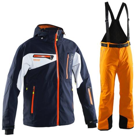 Мужской горнолыжный костюм 8848 Altitude Rocky 15/Guard (navy/orange)