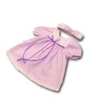 Платье хлопковое горох - Сиреневый. Одежда для кукол, пупсов и мягких игрушек.