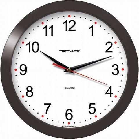 Часы настенные Troyka 11100112 круг плав.ход пластик