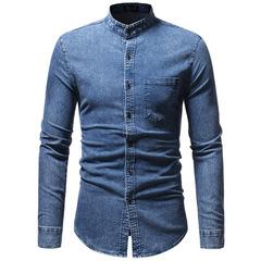 Мужская рубашка джинсовая