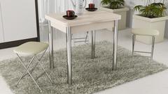 Стол обеденный с хромированными ножками «Лион» СМ-204.02.2